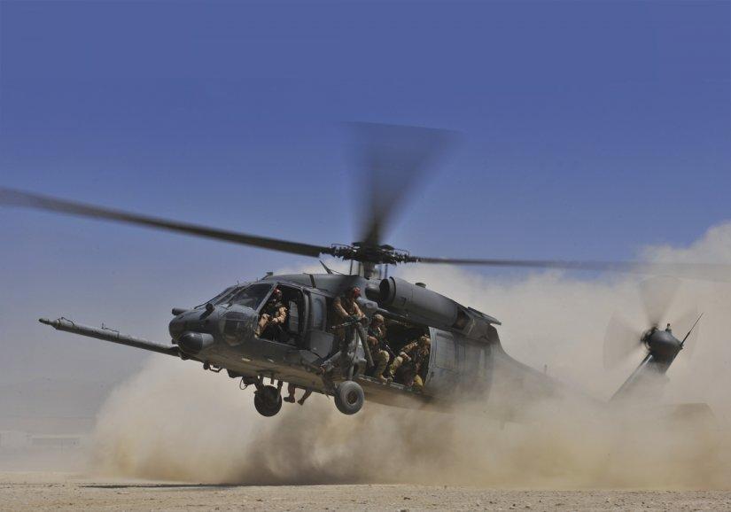 Helicopter pilot window - UH-60 BLACK HAWK